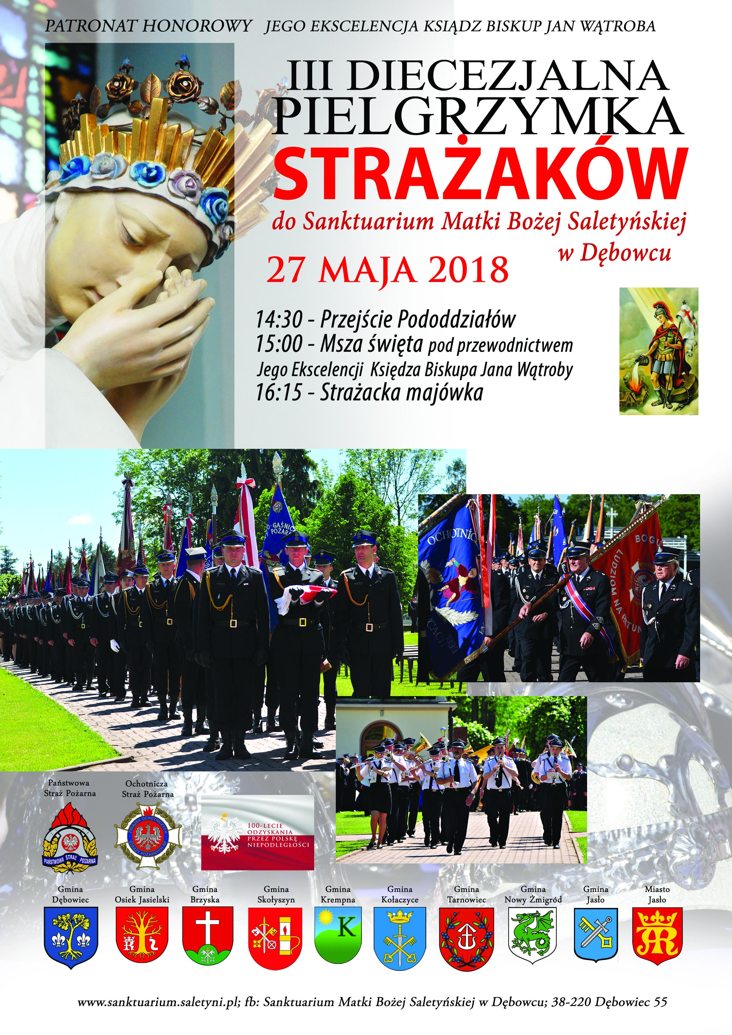 plakat pielgrzymki strażaków dodębowca2018