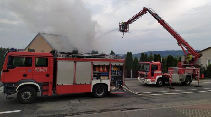 Pożar budynku mieszkalnego wStrzyżowie